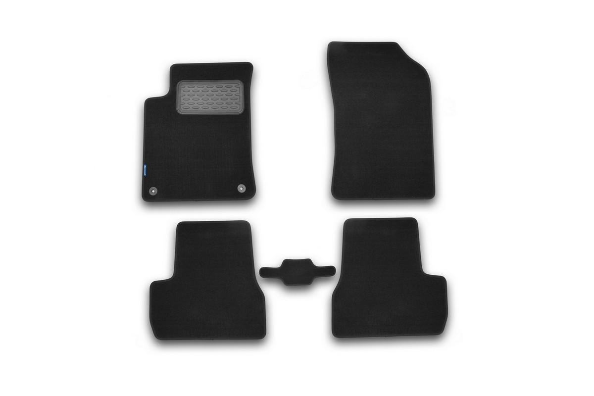 Набор автомобильных ковриков Novline-Autofamily для Citroen DS3 АКПП 2010-, хэтчбек, в салон, 5 шт98298130Набор автомобильных ковриков Novline-Autofamily, изготовленный из текстиля, состоит из 5 ковриков, которые учитывают все особенности каждой модели автомобиля и полностью повторяют контуры пола. Текстильные автомобильные коврики для салона произведены из высококачественного материала, который держит форму, прочный и не пачкает обувь. Коврики в салон не только улучшат внешний вид салона вашего автомобиля, но и надежно уберегут его от пыли, грязи и сырости, а значит, защитят кузов от коррозии. Текстильные коврики для автомобиля мягкие и приятные, а их основа из вспененного полиуретана не пропускает влагу. Ковры для автомобилей надежно крепятся на полу и не скользят, что очень важно во время движения. Чистятся коврики очень просто: как при помощи автомобильного пылесоса, так и различными моющими средствами. Набор подходит для Citroen DS3 АКПП хэтчбек с 2010 года выпуска.