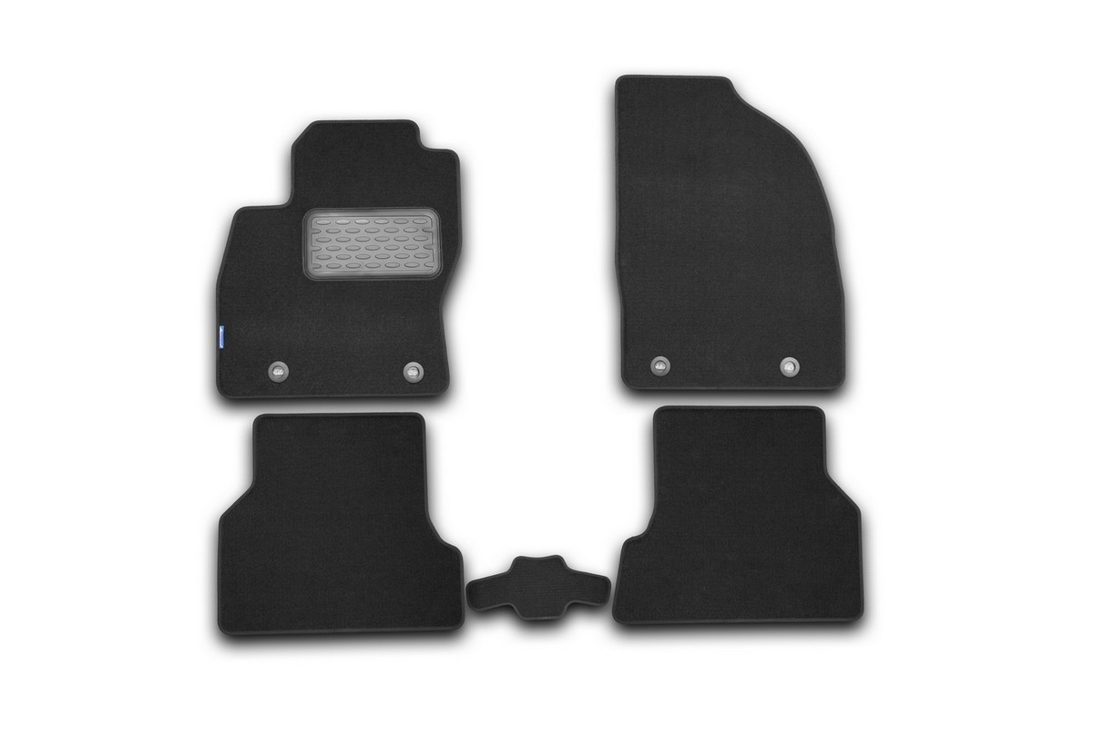 Набор автомобильных ковриков Novline-Autofamily для Ford Focus 2 2004-, седан, в салон, 5 шт. NLT.16.02.22.110khUdd500leНабор автомобильных ковриков Novline-Autofamily, изготовленный из текстиля, состоит из 5 ковриков, которые учитывают все особенности каждой модели автомобиля и полностью повторяют контуры пола. Текстильные автомобильные коврики для салона произведены из высококачественного материала, который держит форму, прочный и не пачкает обувь. Коврики в салон не только улучшат внешний вид салона вашего автомобиля, но и надежно уберегут его от пыли, грязи и сырости, а значит, защитят кузов от коррозии. Текстильные коврики для автомобиля мягкие и приятные, а их основа из вспененного полиуретана не пропускает влагу. Ковры для автомобилей надежно крепятся на полу и не скользят, что очень важно во время движения. Чистятся коврики очень просто: как при помощи автомобильного пылесоса, так и различными моющими средствами. Набор подходит для Ford Focus 2 седан с 2004 года выпуска.