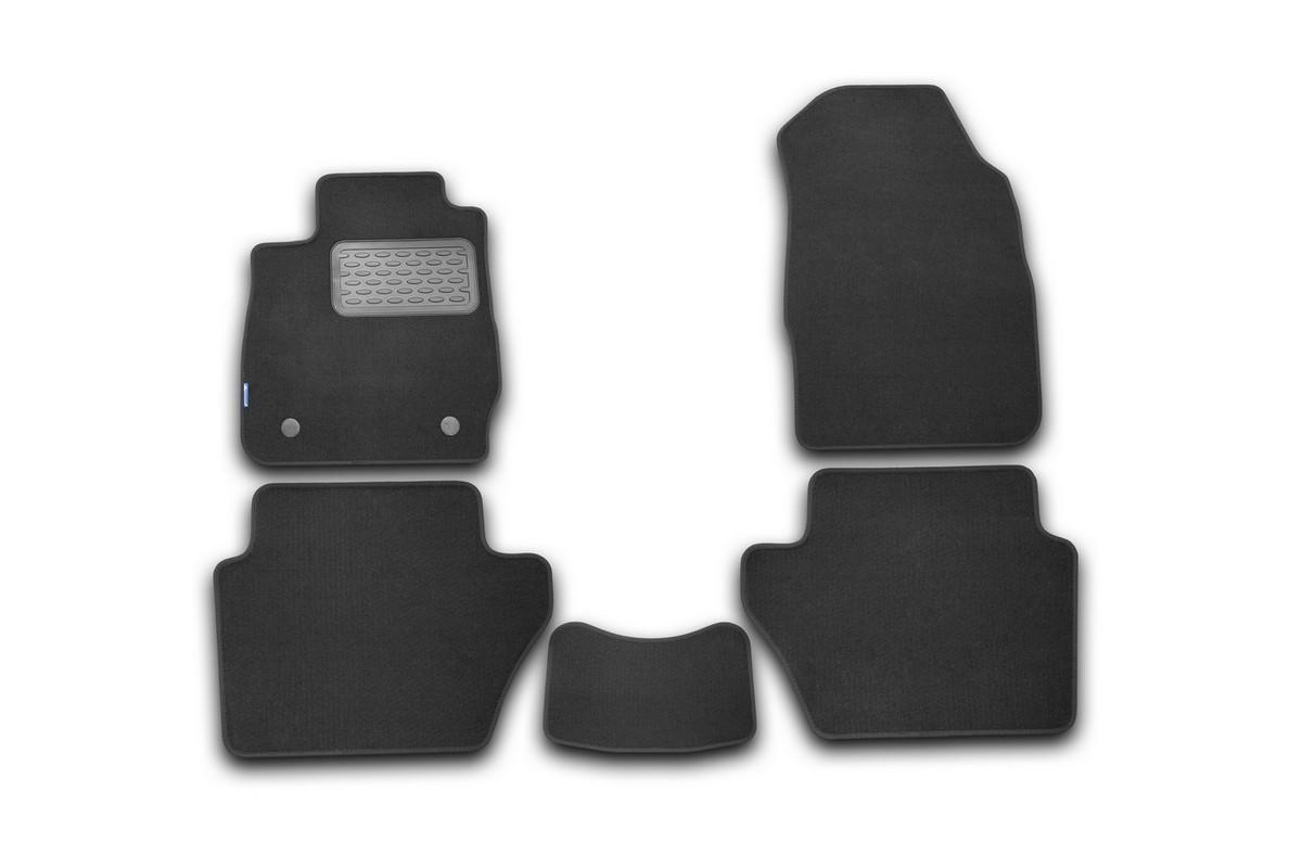 Набор автомобильных ковриков Novline-Autofamily для Ford Fiesta 3D 2008-2011, хэтчбек, в салон, 5 штNLC.20.07.210Набор автомобильных ковриков Novline-Autofamily, изготовленный из текстиля, состоит из 5 ковриков, которые учитывают все особенности каждой модели автомобиля и полностью повторяют контуры пола. Текстильные автомобильные коврики для салона произведены из высококачественного материала, который держит форму, прочный и не пачкает обувь. Коврики в салон не только улучшат внешний вид салона вашего автомобиля, но и надежно уберегут его от пыли, грязи и сырости, а значит, защитят кузов от коррозии. Текстильные коврики для автомобиля мягкие и приятные, а их основа из вспененного полиуретана не пропускает влагу. Ковры для автомобилей надежно крепятся на полу и не скользят, что очень важно во время движения. Чистятся коврики очень просто: как при помощи автомобильного пылесоса, так и различными моющими средствами. Набор подходит для Ford Fiesta 3D хэтчбек 2008-2011 годов выпуска.