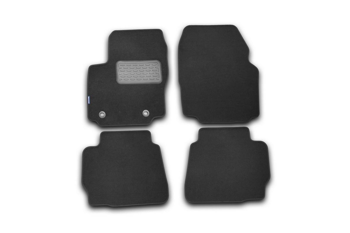 Набор автомобильных ковриков Novline-Autofamily для Ford Mondeo 2011-2014, седан, в салон, цвет: черный, 4 шт. NLT.16.33.11.110khFS-80264Набор автомобильных ковриков Novline-Autofamily, изготовленный из текстиля, состоит из 4 ковриков, которые учитывают все особенности каждой модели автомобиля и полностью повторяют контуры пола. Текстильные автомобильные коврики для салона произведены из высококачественного материала, который держит форму, прочный и не пачкает обувь. Коврики в салон не только улучшат внешний вид салона вашего автомобиля, но и надежно уберегут его от пыли, грязи и сырости, а значит, защитят кузов от коррозии. Текстильные коврики для автомобиля мягкие и приятные, а их основа из вспененного полиуретана не пропускает влагу. Ковры для автомобилей надежно крепятся на полу и не скользят, что очень важно во время движения. Чистятся коврики очень просто: как при помощи автомобильного пылесоса, так и различными моющими средствами. Набор подходит для Ford Mondeo седан 2011-2014 годов выпуска.