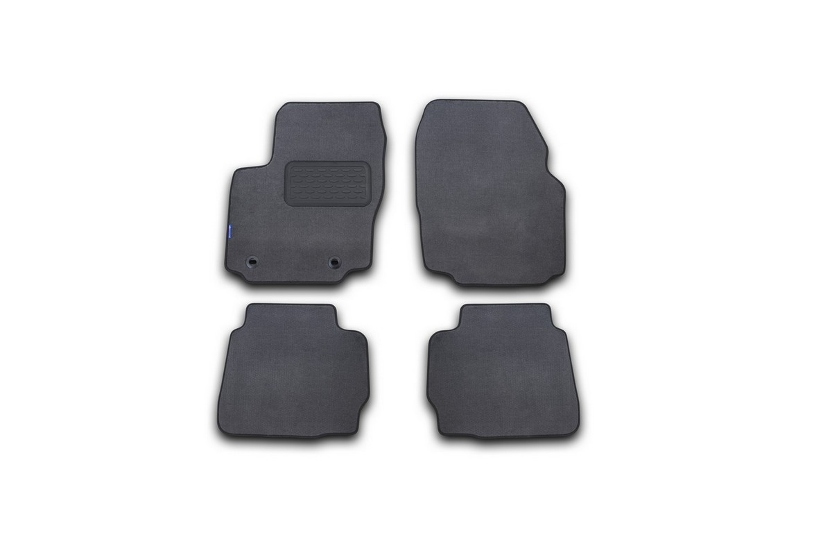"""Набор автомобильных ковриков """"Novline-Autofamily"""" для Ford Mondeo 2011-2014, седан, в салон, цвет: серый, 4 шт. NLT.16.33.11.111kh"""