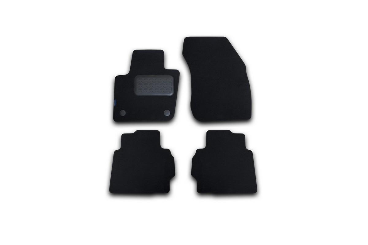 Набор автомобильных ковриков Novline-Autofamily для Ford Mondeo 2015-, седан, в салон, цвет: черный, 4 шт. NLT.16.66.22.110khВетерок 2ГФНабор автомобильных ковриков Novline-Autofamily, изготовленный из текстиля, состоит из 4 ковриков, которые учитывают все особенности каждой модели автомобиля и полностью повторяют контуры пола. Текстильные автомобильные коврики для салона произведены из высококачественного материала, который держит форму, прочный и не пачкает обувь. Коврики в салон не только улучшат внешний вид салона вашего автомобиля, но и надежно уберегут его от пыли, грязи и сырости, а значит, защитят кузов от коррозии. Текстильные коврики для автомобиля мягкие и приятные, а их основа из вспененного полиуретана не пропускает влагу. Ковры для автомобилей надежно крепятся на полу и не скользят, что очень важно во время движения. Чистятся коврики очень просто: как при помощи автомобильного пылесоса, так и различными моющими средствами. Набор подходит для Ford Mondeo седан с 2015 года выпуска.