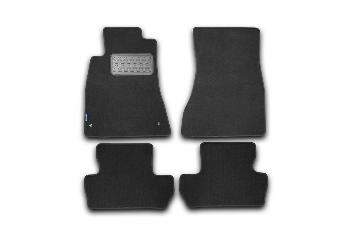 Набор автомобильных ковриков Novline-Autofamily для Lexus IS 250C АКПП 2005-, кабриолет, в салон, 4 штNLC.35.14.210Набор автомобильных ковриков Novline-Autofamily, изготовленный из текстиля, состоит из 4 ковриков, которые учитывают все особенности каждой модели автомобиля и полностью повторяют контуры пола. Текстильные автомобильные коврики для салона произведены из высококачественного материала, который держит форму, прочный и не пачкает обувь. Коврики в салон не только улучшат внешний вид салона вашего автомобиля, но и надежно уберегут его от пыли, грязи и сырости, а значит, защитят кузов от коррозии. Текстильные коврики для автомобиля мягкие и приятные, а их основа из вспененного полиуретана не пропускает влагу. Ковры для автомобилей надежно крепятся на полу и не скользят, что очень важно во время движения. Чистятся коврики очень просто: как при помощи автомобильного пылесоса, так и различными моющими средствами. Набор подходит для Lexus IS 250C АКПП кабриолет с 2005 года выпуска.