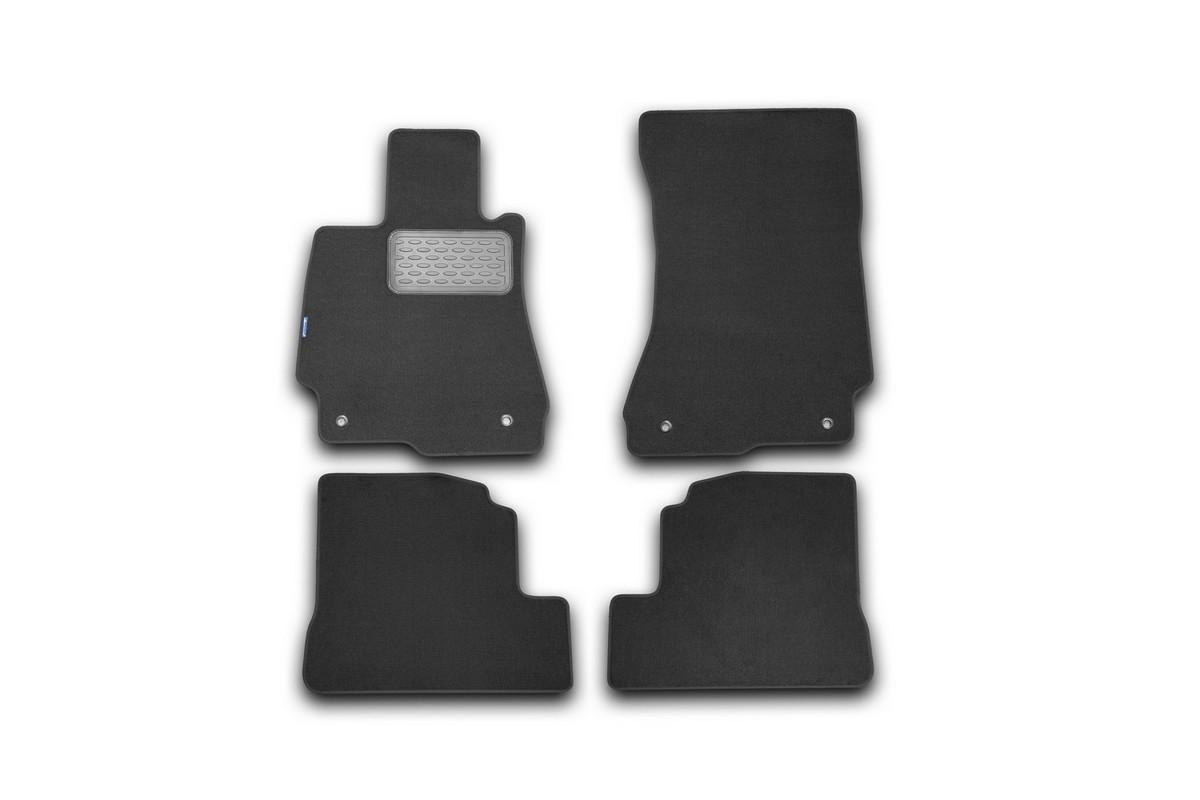 Набор автомобильных ковриков Novline-Autofamily для Mercedes-Benz S-Klasse W221 АКПП 2005-, седан, в салон, 4 шт. NLT.34.02.11.110kh21395599Набор автомобильных ковриков Novline-Autofamily, изготовленный из текстиля, состоит из 4 ковриков, которые учитывают все особенности каждой модели автомобиля и полностью повторяют контуры пола. Текстильные автомобильные коврики для салона произведены из высококачественного материала, который держит форму, прочный и не пачкает обувь. Коврики в салон не только улучшат внешний вид салона вашего автомобиля, но и надежно уберегут его от пыли, грязи и сырости, а значит, защитят кузов от коррозии. Текстильные коврики для автомобиля мягкие и приятные, а их основа из вспененного полиуретана не пропускает влагу. Ковры для автомобилей надежно крепятся на полу и не скользят, что очень важно во время движения. Чистятся коврики очень просто: как при помощи автомобильного пылесоса, так и различными моющими средствами. Набор подходит для Mercedes-Benz S-Klasse W221 АКПП седан c 2005 года выпуска.