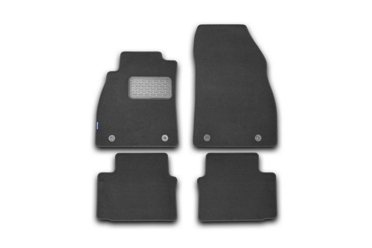 Набор автомобильных ковриков Novline-Autofamily для Opel Insignia 2008-, седан/универсал/хэтчбек, в салон, цвет: черный, 4 штАксион Т-33Набор автомобильных ковриков Novline-Autofamily, изготовленный из текстиля, состоит из 4 ковриков, которые учитывают все особенности каждой модели автомобиля и полностью повторяют контуры пола. Текстильные автомобильные коврики для салона произведены из высококачественного материала, который держит форму, прочный и не пачкает обувь. Коврики в салон не только улучшат внешний вид салона вашего автомобиля, но и надежно уберегут его от пыли, грязи и сырости, а значит, защитят кузов от коррозии. Текстильные коврики для автомобиля мягкие и приятные, а их основа из вспененного полиуретана не пропускает влагу. Ковры для автомобилей надежно крепятся на полу и не скользят, что очень важно во время движения. Чистятся коврики очень просто: как при помощи автомобильного пылесоса, так и различными моющими средствами. Набор подходит для Opel Insignia седан/универсал/хэтчбек с 2008 года выпуска.