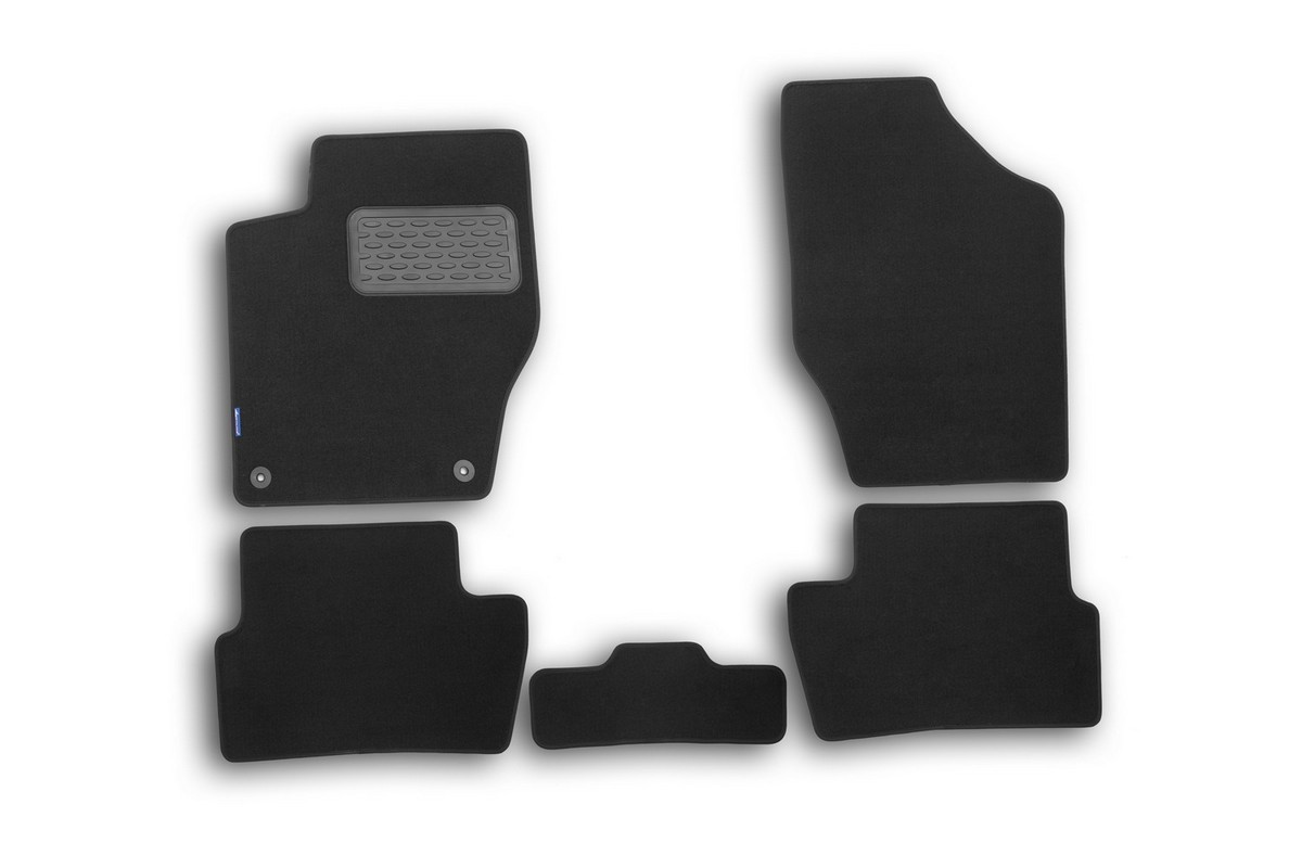 Набор автомобильных ковриков Novline-Autofamily для Peugeot 308 2007-2014, хэтчбек, в салон, 5 штВетерок 2ГФНабор автомобильных ковриков Novline-Autofamily, изготовленный из текстиля, состоит из 5 ковриков, которые учитывают все особенности каждой модели автомобиля и полностью повторяют контуры пола. Текстильные автомобильные коврики для салона произведены из высококачественного материала, который держит форму, прочный и не пачкает обувь. Коврики в салон не только улучшат внешний вид салона вашего автомобиля, но и надежно уберегут его от пыли, грязи и сырости, а значит, защитят кузов от коррозии. Текстильные коврики для автомобиля мягкие и приятные, а их основа из вспененного полиуретана не пропускает влагу. Ковры для автомобилей надежно крепятся на полу и не скользят, что очень важно во время движения. Чистятся коврики очень просто: как при помощи автомобильного пылесоса, так и различными моющими средствами. Набор подходит для Peugeot 308 хэтчбек 2007-2014 годов выпуска.