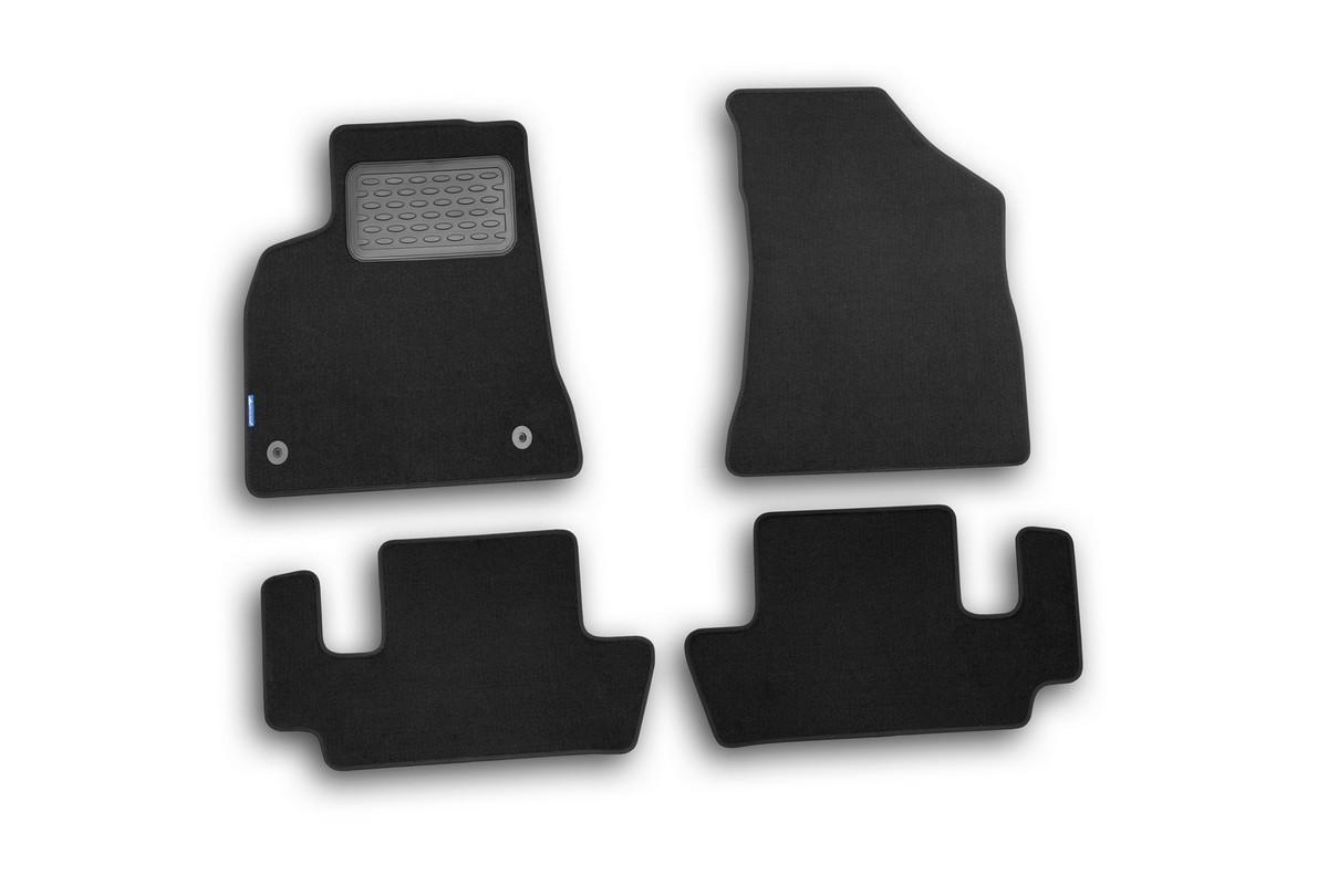 Набор автомобильных ковриков Novline-Autofamily для Peugeot 3008 2008-, универсал, в салон, 4 шт98293777Набор автомобильных ковриков Novline-Autofamily, изготовленный из текстиля, состоит из 4 ковриков, которые учитывают все особенности каждой модели автомобиля и полностью повторяют контуры пола. Текстильные автомобильные коврики для салона произведены из высококачественного материала, который держит форму, прочный и не пачкает обувь. Коврики в салон не только улучшат внешний вид салона вашего автомобиля, но и надежно уберегут его от пыли, грязи и сырости, а значит, защитят кузов от коррозии. Текстильные коврики для автомобиля мягкие и приятные, а их основа из вспененного полиуретана не пропускает влагу. Ковры для автомобилей надежно крепятся на полу и не скользят, что очень важно во время движения. Чистятся коврики очень просто: как при помощи автомобильного пылесоса, так и различными моющими средствами. Набор подходит для Peugeot 3008 универсал с 2008 года выпуска.