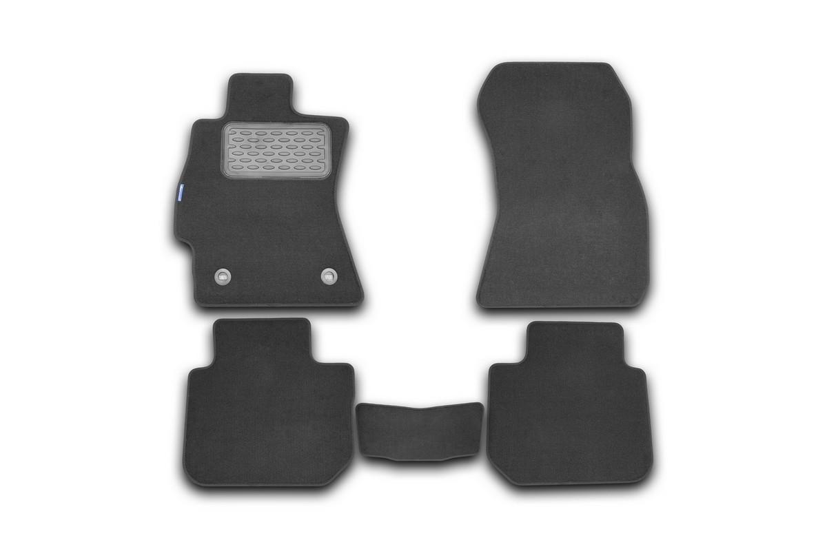 Набор автомобильных ковриков Novline-Autofamily для Subaru Legacy 2010-, седан, в салон, 5 штВетерок 2ГФНабор автомобильных ковриков Novline-Autofamily, изготовленный из текстиля, состоит из 5 ковриков, которые учитывают все особенности каждой модели автомобиля и полностью повторяют контуры пола. Текстильные автомобильные коврики для салона произведены из высококачественного материала, который держит форму, прочный и не пачкает обувь. Коврики в салон не только улучшат внешний вид салона вашего автомобиля, но и надежно уберегут его от пыли, грязи и сырости, а значит, защитят кузов от коррозии. Текстильные коврики для автомобиля мягкие и приятные, а их основа из вспененного полиуретана не пропускает влагу. Ковры для автомобилей надежно крепятся на полу и не скользят, что очень важно во время движения. Чистятся коврики очень просто: как при помощи автомобильного пылесоса, так и различными моющими средствами. Набор подходит для Subaru Legacy седан с 2010 года выпуска.