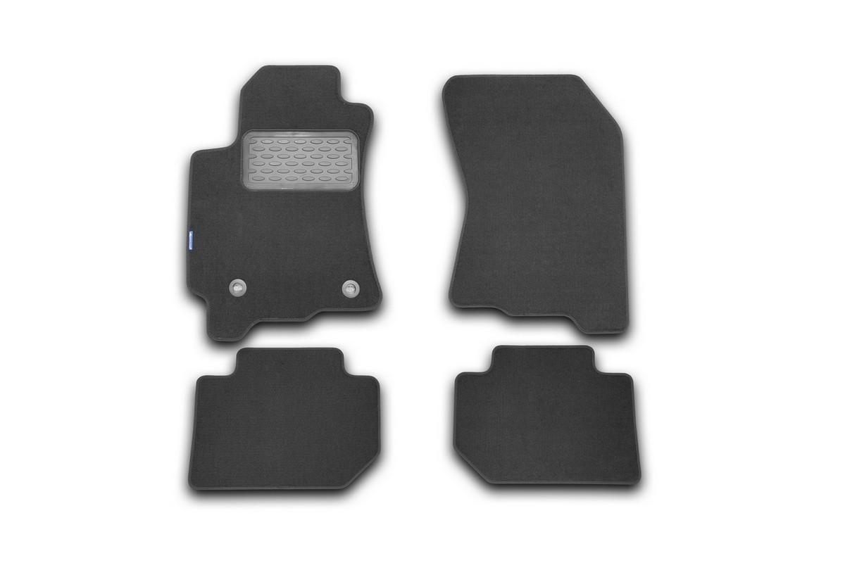 Набор автомобильных ковриков Novline-Autofamily для Subaru Tribeca 2008-, кроссовер, 4 шт. NLT.46.17.11.110khFS-80264Набор автомобильных ковриков Novline-Autofamily, изготовленный из текстиля, состоит из 4 ковриков, которые учитывают все особенности каждой модели автомобиля и полностью повторяют контуры пола. Текстильные автомобильные коврики для салона произведены из высококачественного материала, который держит форму, прочный и не пачкает обувь. Коврики в салон не только улучшат внешний вид салона вашего автомобиля, но и надежно уберегут его от пыли, грязи и сырости, а значит, защитят кузов от коррозии. Текстильные коврики для автомобиля мягкие и приятные, а их основа из вспененного полиуретана не пропускает влагу. Ковры для автомобилей надежно крепятся на полу и не скользят, что очень важно во время движения. Чистятся коврики очень просто: как при помощи автомобильного пылесоса, так и различными моющими средствами. Набор подходит для Subaru Tribeca кроссовер с 2008 года выпуска.