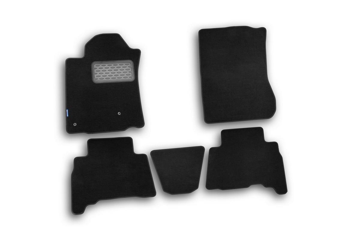 Набор автомобильных ковриков Novline-Autofamily для Toyota Land Cruiser 150 2010-2013, внедорожник, в салон, 5 штNLT.48.28.11.110khНабор автомобильных ковриков Novline-Autofamily, изготовленный из текстиля, состоит из 5 ковриков, которые учитывают все особенности каждой модели автомобиля и полностью повторяют контуры пола. Текстильные автомобильные коврики для салона произведены из высококачественного материала, который держит форму, прочный и не пачкает обувь. Коврики в салон не только улучшат внешний вид салона вашего автомобиля, но и надежно уберегут его от пыли, грязи и сырости, а значит, защитят кузов от коррозии. Текстильные коврики для автомобиля мягкие и приятные, а их основа из вспененного полиуретана не пропускает влагу. Ковры для автомобилей надежно крепятся на полу и не скользят, что очень важно во время движения. Чистятся коврики очень просто: как при помощи автомобильного пылесоса, так и различными моющими средствами. Набор подходит для Toyota Land Cruiser 150 внедорожник 2010-2013 годов выпуска.