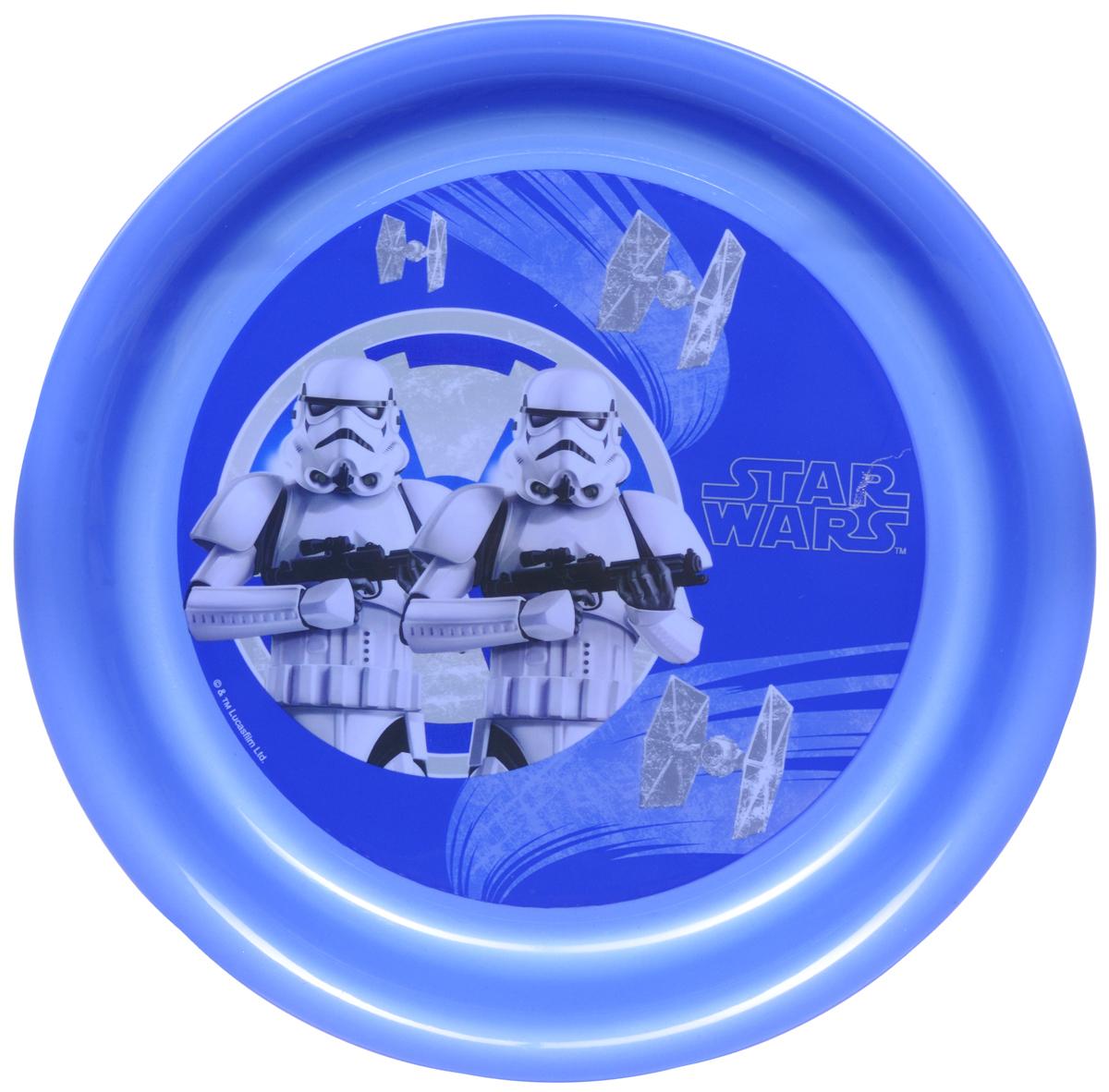 Star Wars Тарелка детская Штурмовики диаметр 19 см115510Детская тарелка Star Wars Штурмовики станет отличным подарком для любого фаната знаменитой саги. Она выполнена из полипропилена и оформлена рисунком с изображением имперских штурмовиков. Диаметр тарелки: 19 см. Не подходит для использования в посудомоечной машине и СВЧ-печи.