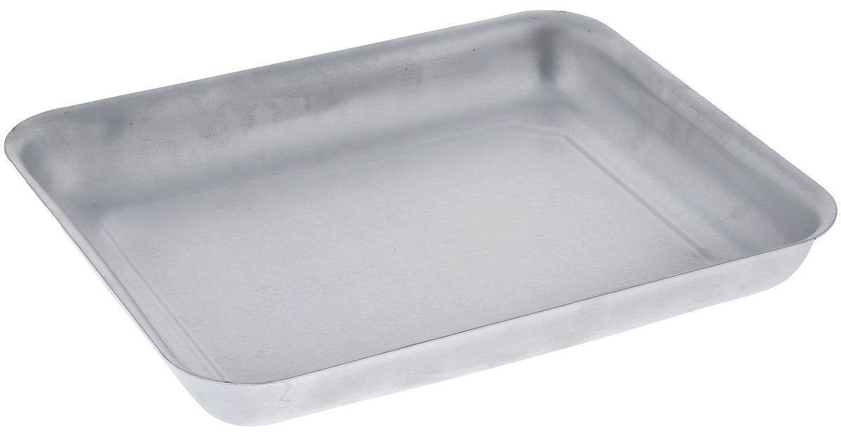 Противень Scovo Малыш, цвет: серебристый, 28 х 22 х 4 смМТ-042Противень Scovo Малыш изготовлен из высококачественного экологически чистого алюминия. Обжаренная на таком противне пища отлично сохраняет свои вкусовые качества и имеет привлекательный, аппетитный вид.Алюминиевая матовая посуда - это давно проверенная классика. Универсальная, долговечная, недорогая, удобная. Не смотря на то, что алюминиевая посуда не обладает привлекательным внешним видом, она может пережить многие испытания и не понести потерь. Ей не страшны перепады температуры, жесткие металлически мочалки и абразивные моющие средства. Даже деформация корпуса не влияет на дальнейший процесс приготовления пищи.Внутренний размер противня: 28 см х 22 см.Внешний размер противня: 30,2 см х 24,2 см х 4 см.