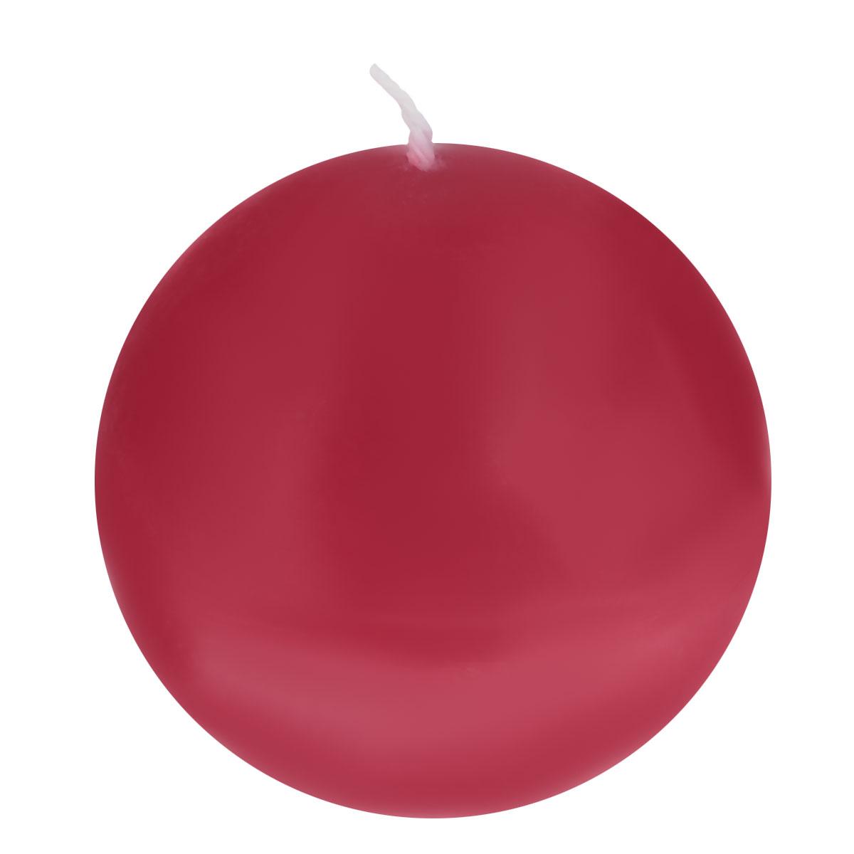 Свеча декоративная Proffi Шар, цвет: бордовый, диаметр 7,5 смPH3456Шарообразная декоративная свеча Proffi Шар изготовлена из парафина, стеарина. Предназначена для освещения и украшения помещений. Такая свеча может стать отличным подарком или дополнить интерьер вашей спальни или гостиной.