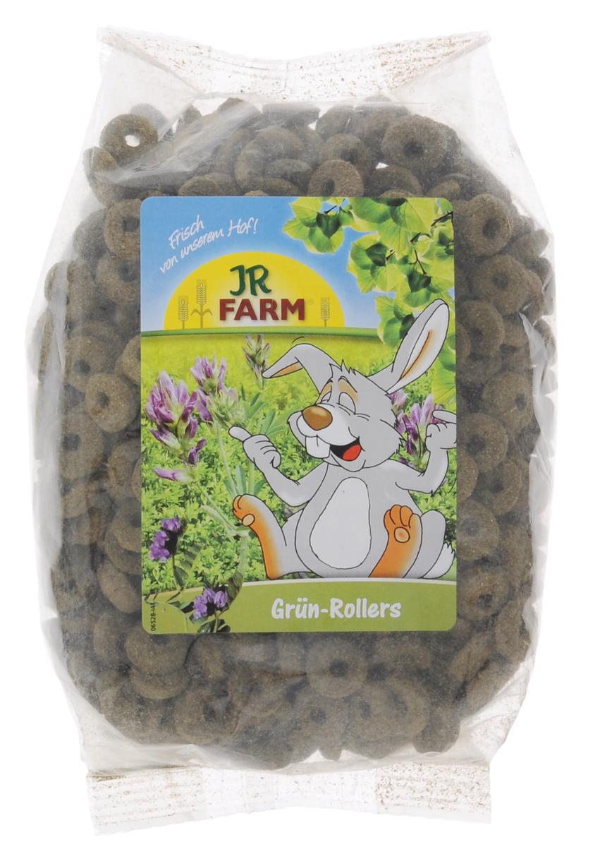 Лакомство для грызунов JR Farm Зеленые колечки, 500 г камень для шиншилл jr farm жевательный 50 г