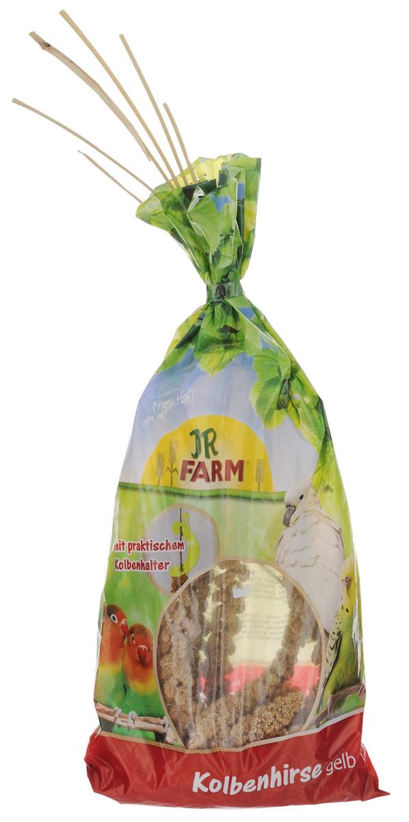 Лакомство для птиц JR Farm Ветка просо желтого, 250 г камень для шиншилл jr farm жевательный 50 г