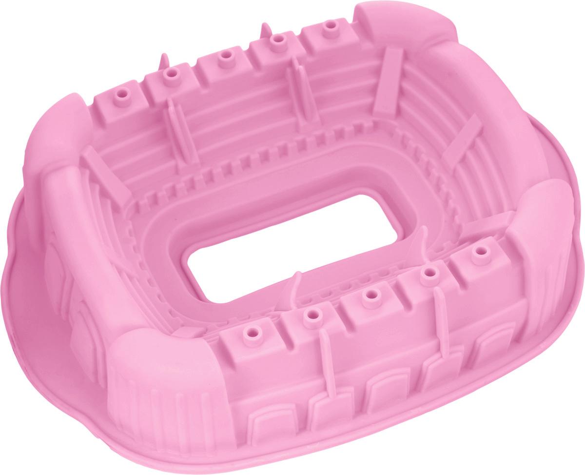 Форма для выпечки Marmiton Колизей, цвет: розовый, 36 х 26 х 7,2 см16071_розовыйФорма для выпечки Marmiton Колизей будет отличным выбором для всех любителей бисквитов и кексов. Благодаря тому, что форма изготовлена из силикона, готовую выпечку или мармелад вынимать легко и просто.С такой формой вы всегда сможете порадовать своих близких оригинальной выпечкой. Материал устойчив к фруктовым кислотам, может быть использован в духовках и микроволновых печах (выдерживает температуру от 240°C до - 50°C). Можно мыть и сушить в посудомоечной машине.Общий размер формы: 36 см х 26 см х 7,2 см.Внутренний размер формы (без учета бортов и ручек): 28,5 см х 23 см.