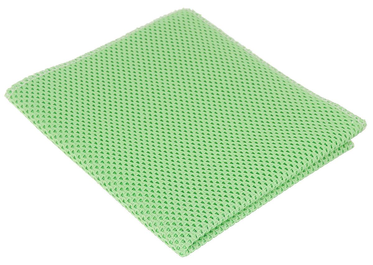 Салфетка для уборки Eva, сетчатая, цвет: салатовый, 30 х 35 см4304Сетчатая салфетка Eva, изготовленная из полиамида и полиэстера, предназначена для очищения загрязнений на любых поверхностях. Изделие обладает высокой износоустойчивостью и рассчитано на многократное использование, легко моется в теплой воде с мягкими чистящими средствами. Супервпитывающая салфетка не оставляет разводов и ворсинок, удаляет большинство жирных и маслянистых загрязнений без использования химических средств.