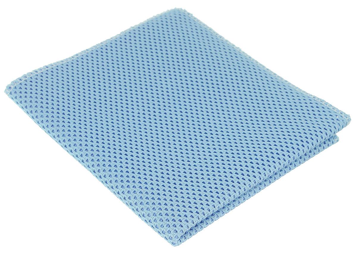 Салфетка для уборки Eva, сетчатая, цвет: голубой, 30 см х 35 смNLD.SSUSX4H0632Сетчатая салфетка Eva, изготовленная из полиамида и полиэстера, предназначена для очищения загрязнений на любых поверхностях. Изделие обладает высокой износоустойчивостью и рассчитано на многократное использование, легко моется в теплой воде с мягкими чистящими средствами. Супервпитывающая салфетка не оставляет разводов и ворсинок, удаляет большинство жирных и маслянистых загрязнений без использования химических средств.