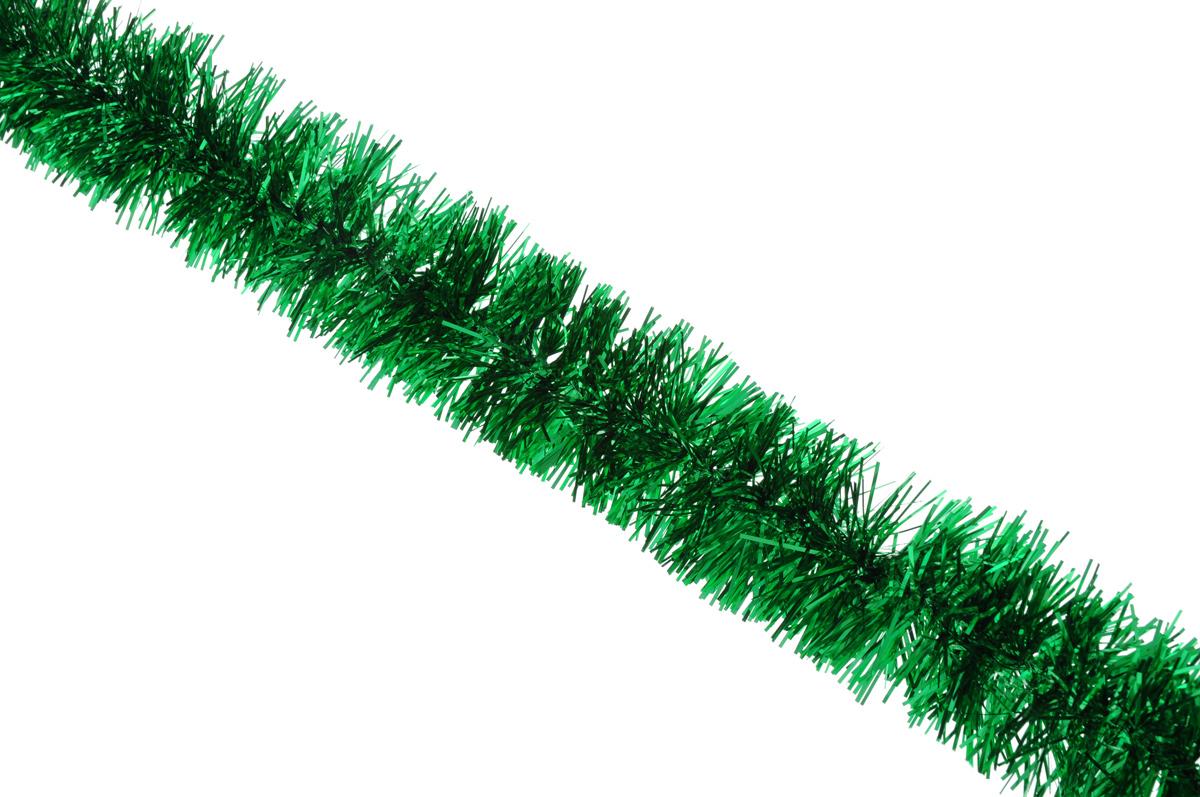Мишура новогодняя Sima-land, цвет: зеленый, диаметр 6,5 см, длина 140 смNLED-454-9W-BKНовогодняя мишура Sima-land, выполненная из фольги, поможет вам украсить свой дом к предстоящим праздникам. А новогодняя елка с таким украшением станет еще наряднее. Мишура армирована, то есть имеет проволоку внутри и способна сохранять приданную ей форму. Новогодней мишурой можно украсить все, что угодно - елку, квартиру, дачу, офис - как внутри, так и снаружи. Можно сложить новогодние поздравления, буквы и цифры, мишурой можно украсить и дополнить гирлянды, можно выделить дверные колонны, оплести дверные проемы. Коллекция декоративных украшений принесет в ваш дом ни с чем несравнимое ощущение праздника! Создайте в своем доме атмосферу тепла, веселья и радости, украшая его всей семьей.