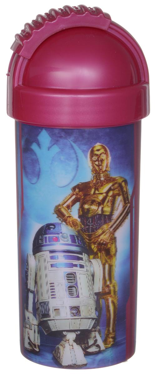 Star Wars Стакан детский с крышкой и трубочкой Роботы 400 млКРС-301Детский стакан Star Wars Роботы станет отличным подарком для любого фаната знаменитой саги. Он выполнен из полипропилена и оформлен 3D-рисунком с изображением дроидов R2D2 и C3PO. Стакан имеет съемную крышку с отодвигающейся заслонкой, под которой расположена трубочка для удобства питья. Объем стакана: 400 мл. Не подходит для использования в посудомоечной машине и СВЧ-печи.