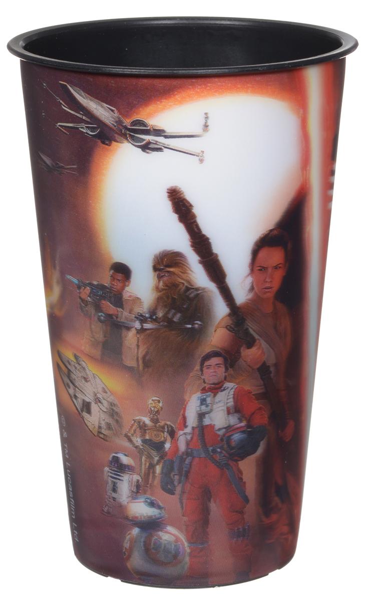 Star Wars Стакан детский Пробуждение силы 600 мл115510Детский стакан Star Wars Пробуждение силы станет отличным подарком для любого фаната знаменитой саги. Он выполнен из полипропилена и оформлен 3D-рисунком с изображением различных сцен из фильма Звездные войны: Пробуждение силы. Объем стакана: 600 мл. Не подходит для использования в посудомоечной машине и СВЧ-печи.