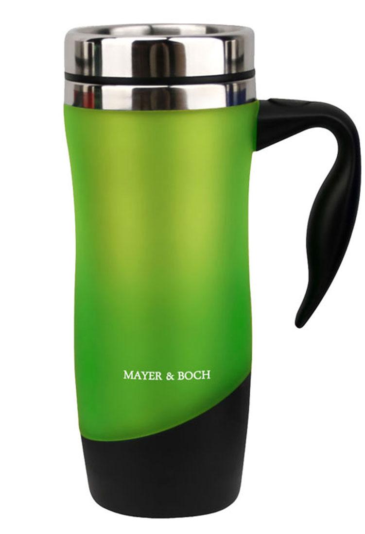 Термокружка Mayer & Boch, цвет: зеленый, 480 млVT-1520(SR)Герметичная термокружка Mayer & Boch удобна для использования в быту, походе и путешествиях. Подходит для горячих и холодных напитков. Оснащена крышкой с системой быстрого открывания для легкого питья. Внешняя стенка выполнена из высококачественного пластика, внутренняя из нержавеющей стали. Ручка и крышка изготовлены из полипропилена.Диаметр по верхнему краю: 8 см.Диаметр дна: 6,5 см.Высота: 21 см.