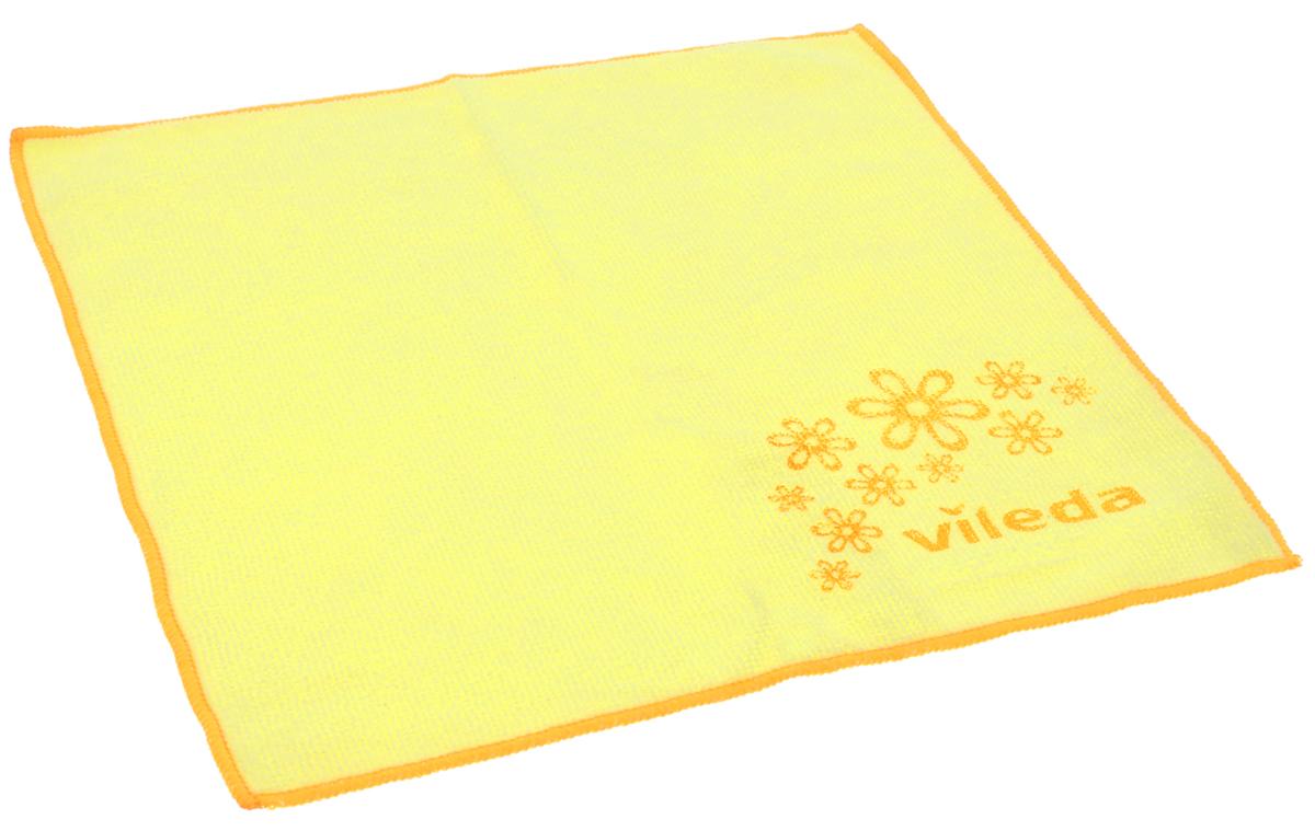 Салфетка универсальная Vileda Микрофибра, цвет: желтый, 32 х 32 см531-105Универсальная салфетка Vileda Микрофибра предназначена для сухой и влажной уборки. В сухом виде - для удаления пыли, во влажном - для удаления загрязнений и полировки. Она устраняет жир, грязь без следа и разводов. Изделие используется без чистящих средств. Салфетка имеет абразивный рисунок для безопасного удаления застарелых загрязнений.Размер: 32 см х 32 см.