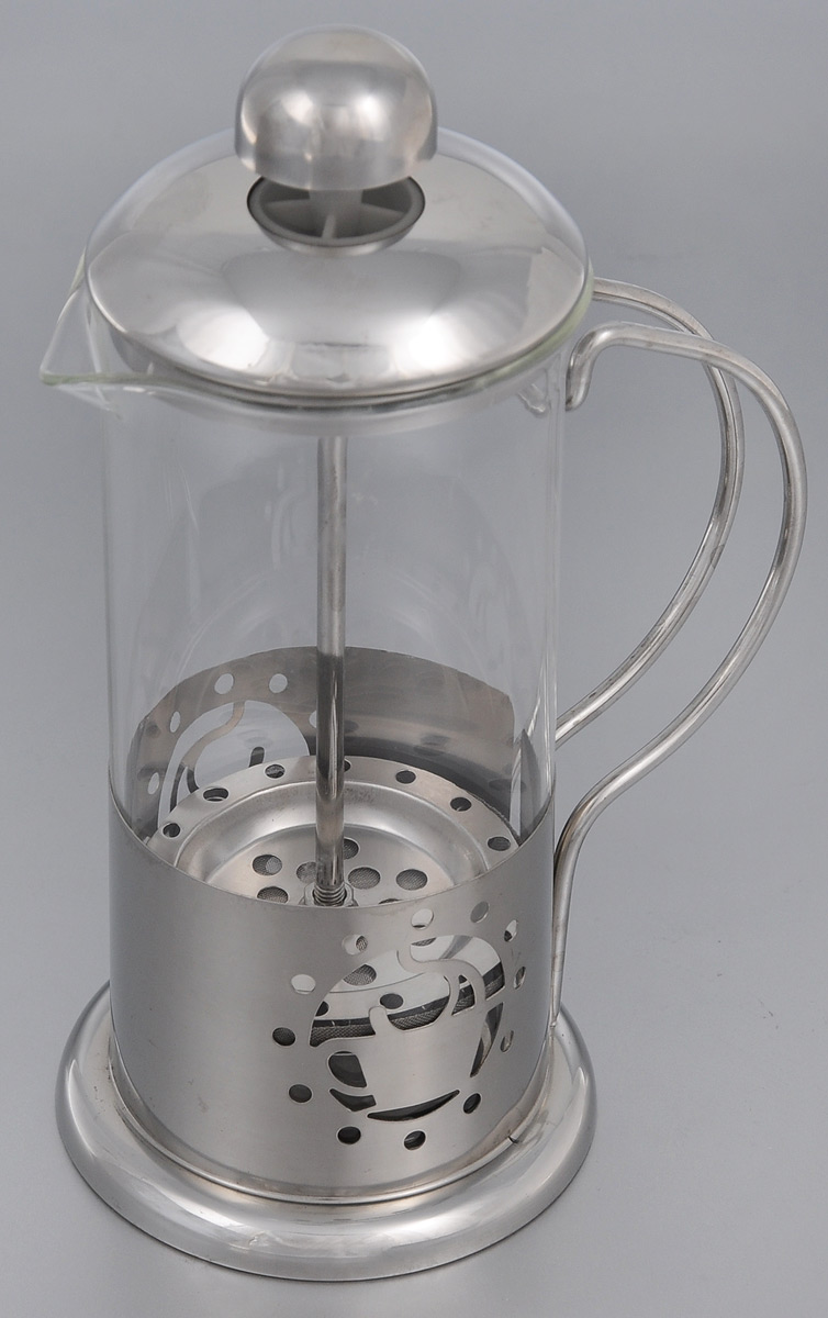 Френч-пресс Mayer & Boch, 350 мл. 2493254 009305Френч-пресс Mayer & Boch  изготовлен из высококачественной нержавеющей стали и жаропрочного стекла. Фильтр-поршень из нержавеющей стали выполнен по технологии press-up для обеспечения равномерной циркуляции воды. Засыпая чайную заварку или кофе под фильтр, заливая горячей водой, вы получаете ароматный напиток с оптимальной крепостью и насыщенностью. Остановить процесс заваривания легко, для этого нужно просто опустить поршень, и все уйдет вниз, оставляя вверху напиток, готовый к употреблению.Френч-пресс Mayer & Boch позволит быстро и просто приготовить свежий и ароматный кофе или чай.