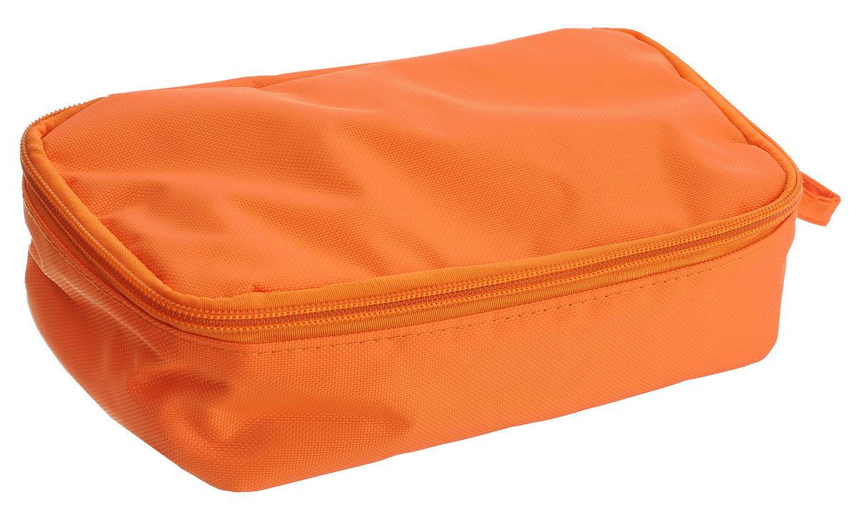Термоланчбокс Iris Barcelona Nano Cooler, цвет: оранжевыйVT-1520(SR)Термоланчбокс Iris Barcelona Nano Cooler представляет собой вместительную сумку, с внешней стороны отделанную высококачественным полиэстером. Имеет одно вместительное отделение и закрывается на застежку-молнию. Внутренняя поверхность отделана специальным изотермическим материалом, сохраняющим температуру пищи (холодную или горячую). Имеется сетчатый кармашек для столовых приборов, напитков и салфеток.
