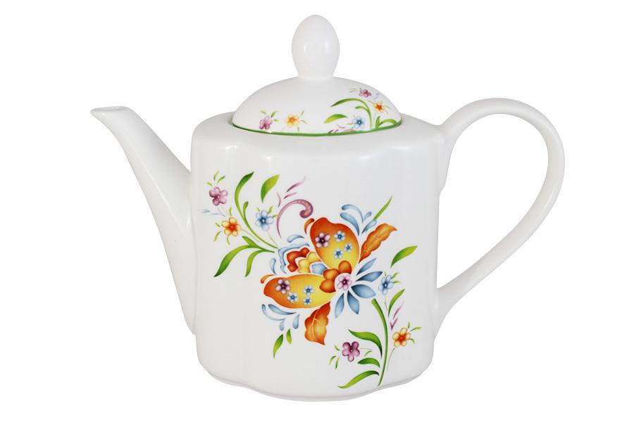 Чайник заварочный Imari Аквитания, 1 л96584Заварочный чайник Imari Аквитания, изготовленный из высококачественной керамики, оформлен изящным изображением цветов. Изделие придется по вкусу и ценителям классики, и тем, кто предпочитает утонченность и изысканность. Заварочный чайник Imari Аквитания украсит интерьер любой кухни.