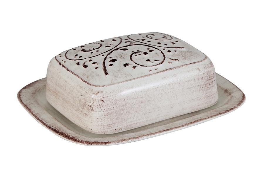 Масленка LCS Медичи115510Великолепная масленка LCS Медичи, выполненная из высококачественной керамики, предназначена для красивой сервировки и хранения масла. Она состоит из подноса и крышки. Масло в ней долго остается свежим, а при хранении в холодильнике не впитывает посторонние запахи. Масленка LCS Овощное ассорти идеально подойдет для сервировки стола и станет отличным подарком к любому празднику.Размер подноса (по верхнему краю): 17 х 15 см.