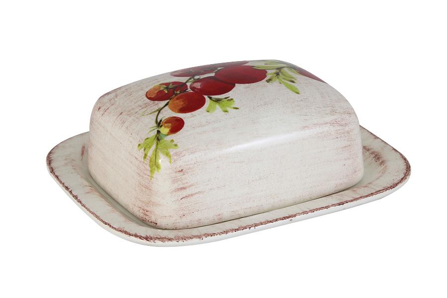 Масленка LCS Овощное ассорти2021BH_белый, голубойВеликолепная масленка LCS Овощное ассорти, выполненная из высококачественной керамики, предназначена для красивой сервировки и хранения масла. Она состоит из подноса и крышки. Масло в ней долго остается свежим, а при хранении в холодильнике не впитывает посторонние запахи. Масленка LCS Овощное ассорти идеально подойдет для сервировки стола и станет отличным подарком к любому празднику.Размер подноса (по верхнему краю): 17 х 15 см.