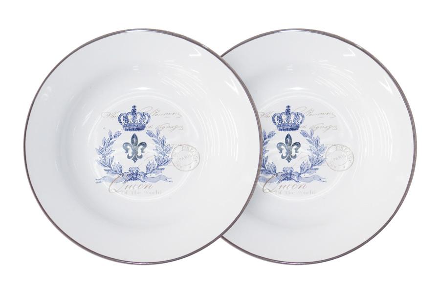 Набор суповых тарелок LF Ceramic Королевский, диаметр 21 см, 2 шт115010Набор LF Ceramic Королевский состоит из двух суповых тарелок, изготовленных из высококачественной керамики. Яркий дизайн изделий, несомненно, придется вам по вкусу.Набор LF Ceramic Королевский украсит ваш кухонный стол, а также станет замечательным подарком к любому празднику.Диаметр (по верхнему краю): 21 см.