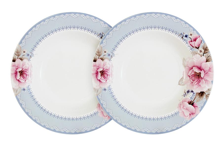 Набор из 2-х суповых тарелок Розовый блюз. PW-NBCP85-112-ALW07430026Обеденные и чайные сервизы торговой марки Primavera изготовлены из качественного костяного фарфора. Посуда подходит для ежедневного использования, благодаря отсутствию серебряной и золотой отделки посуду можно мыть в посудомоечной машине, а также использовать в микроволновой печи.
