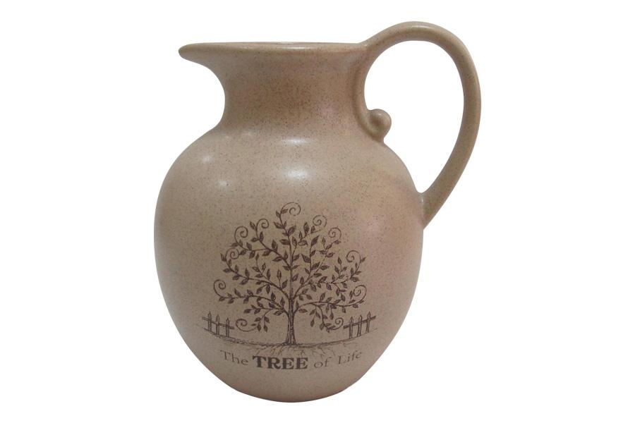 Кувшин Terracotta Дерево жизни, 1,85 лVT-1520(SR)Кувшин Terracotta Дерево жизни, изготовленный из высококачественной керамики, оснащен эргономичной ручкой. В нем будет удобно хранить и подавать на стол молоко, соки или воду. Кувшин Terracotta Дерево жизни украсит любой кухонный интерьер и станет хорошим подарком для ваших близких.Рекомендуется мыть теплой водой с небольшим количеством моющих средств. Можно использовать в микроволновой печи.