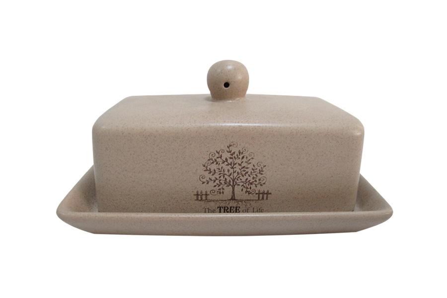 Масленка Terracotta Дерево жизни115510Великолепная масленка Terracotta Шеф-повар, выполненная из высококачественной керамики, предназначена для красивой сервировки и хранения масла. Она состоит из подноса и крышки. Масло в ней долго остается свежим, а при хранении в холодильнике не впитывает посторонние запахи. Масленка Terracotta Шеф-повар идеально подойдет для сервировки стола и станет отличным подарком к любому празднику.