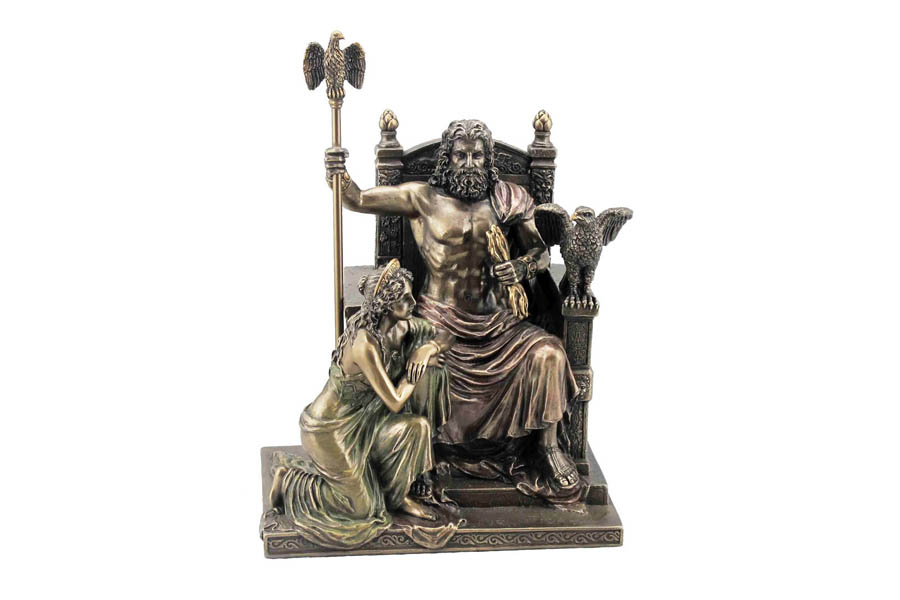 Статуэтка Veronese Зевс и Гера на троне, высота 28 смVWU76068A4ALДекоративная статуэтка Veronese Зевс и Гера на троне изготовлена из полистоуна бронзового цвета. Полистоун - это прочный полимерный материал, который абсолютно не токсичен.Вы можете поставить статуэтку в любом месте, где она будет удачно смотреться и радовать глаз. Такая фигурка прекрасно дополнит интерьер офиса или дома. Veronese - это торговая марка, представляющая широкий ассортимент художественных изделий из полистоуна, выполненных по эскизам итальянских дизайнеров и художников.