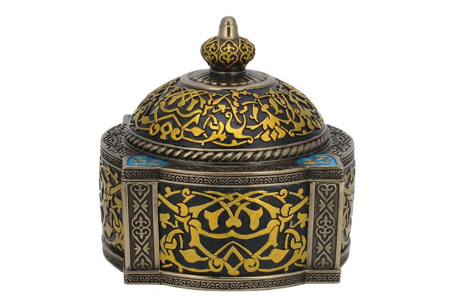 Шкатулка Veronese Арабеска, 12,5 х 12,5 х 12 см шкатулка с часами в стиле стимпанк машина времени veronese