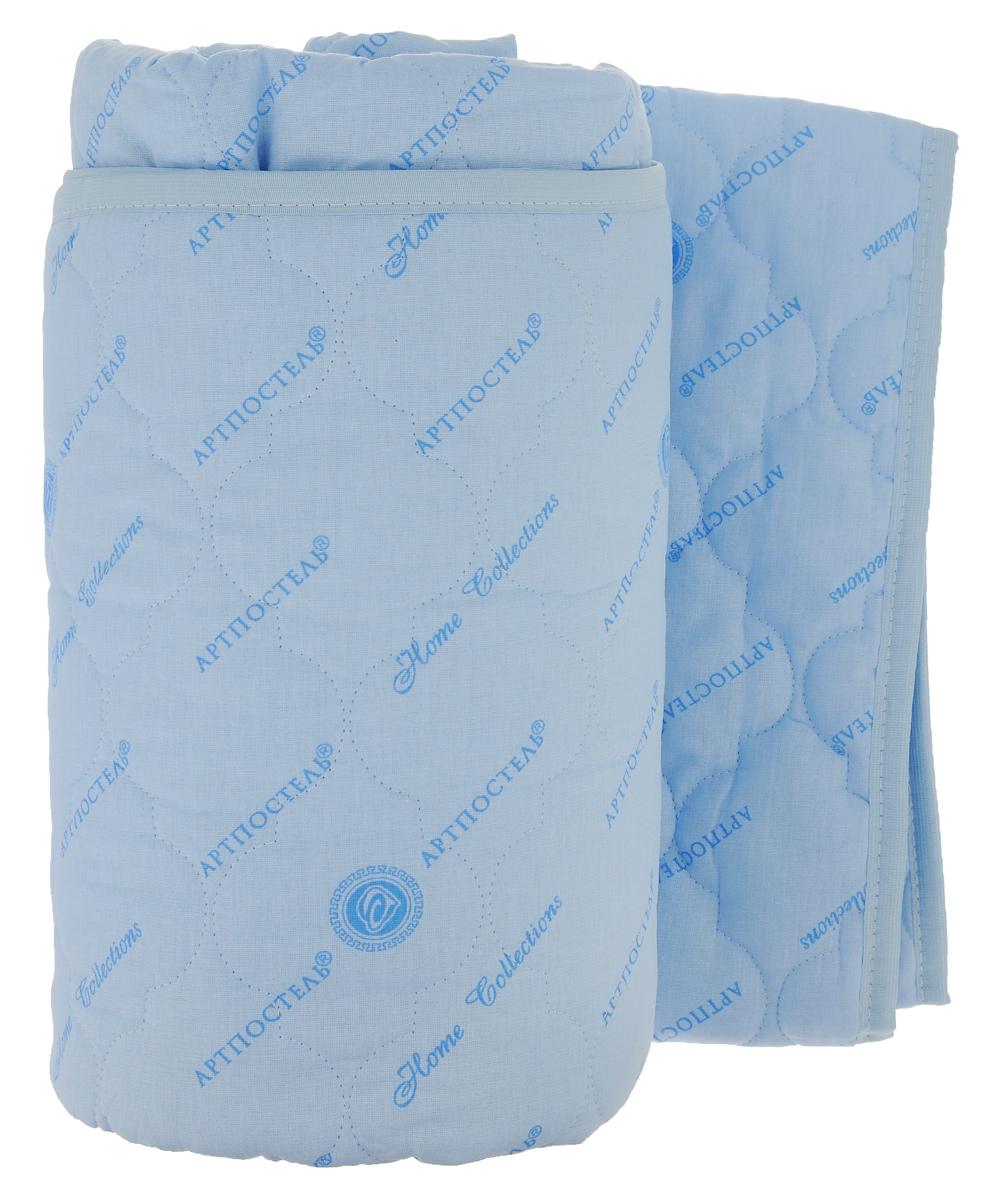 Наматрасник стеганый Арт Постель, цвет: голубой, 160 х 200 смPANTERA SPX-2RSНаматрасник Арт Постель с наполнителем из полого сильно извитого силиконизированного волокна сделает ваш сон еще комфортнее. Чехол, выполненный из поликоттона, оформлен декоративной стежкой и кантом. Благодаря современным технологиям обработки, волокна наполнителя двигаются внутри изделия независимо друг от друга. Данное преимущество придает изделию пышность и упругость. Не вызывает аллергии, способствует циркуляции воздуха в изделии, не впитывает запахи. Подвергается многочисленным стиркам, не теряя своих первоначальных качеств. Наматрасник оснащен резинками по углам, поэтому прочно удерживается на матрасе и избавляет от необходимости часто поправлять. Это защитит матрас от грязи и пыли и придаст дополнительный комфорт вашему спальному месту. Мягкий и легкий, он прекрасно подойдет для жестких кроватей и диванов, делая ваш сон спокойным и приятным. Наматрасник упакован в прозрачный пластиковый чехол на змейке с ручкой, что является чрезвычайно удобным при переноске.Рекомендации по уходу:- стирка в теплой воде (температура до 40°С);- нельзя отбеливать. При стирке не использовать средства, содержащие отбеливатели (хлор);- сушить вертикально без отжима; - не гладить. Не применять обработку паром;- нельзя выжимать и сушить в стиральной машине.Материал чехла: 50% хлопок, 50% полиэстер (поликоттон). Материал наполнителя: 100% полиэфирное волокно (термофайбер).