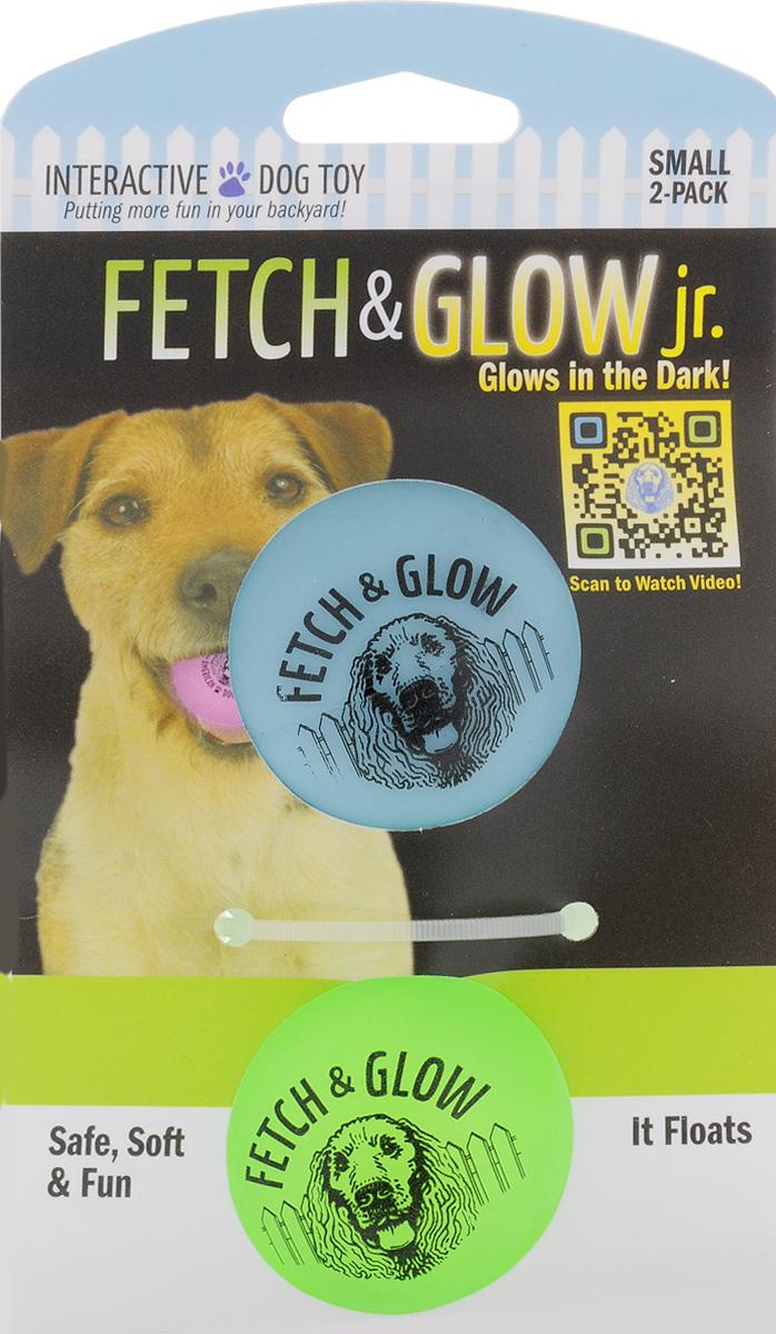 Игрушка для собак Fetch & Glow Jr. Светящийся мяч, цвет: голубой, салатовый, диаметр 4,5 см, 2 шт0120710Набор для собак Fetch & Glow Jr. Светящийся мяч состоит из 2 игрушек, изготовленных из прочной цветной литой резины. Изделия светятся в темноте, благодаря чему вы не потеряете игрушки. Предназначены для игр с собакой любого возраста. Такая игрушка привлечет внимание вашего любимца и не оставит его равнодушным. Диаметр: 4,5 см.Комплектность: 2 шт.