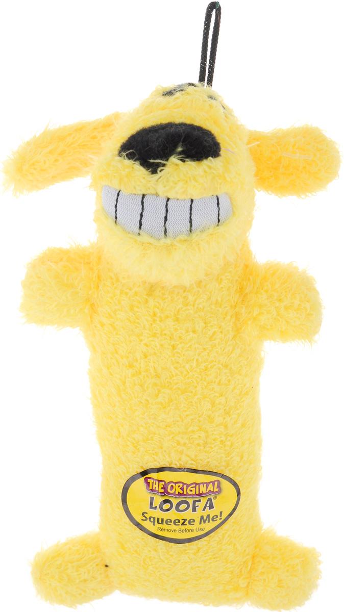 Игрушка для животных Multipet Собака, с пищалкой, цвет: желтый игрушка для животных каскад удочка с микки маусом 47 см
