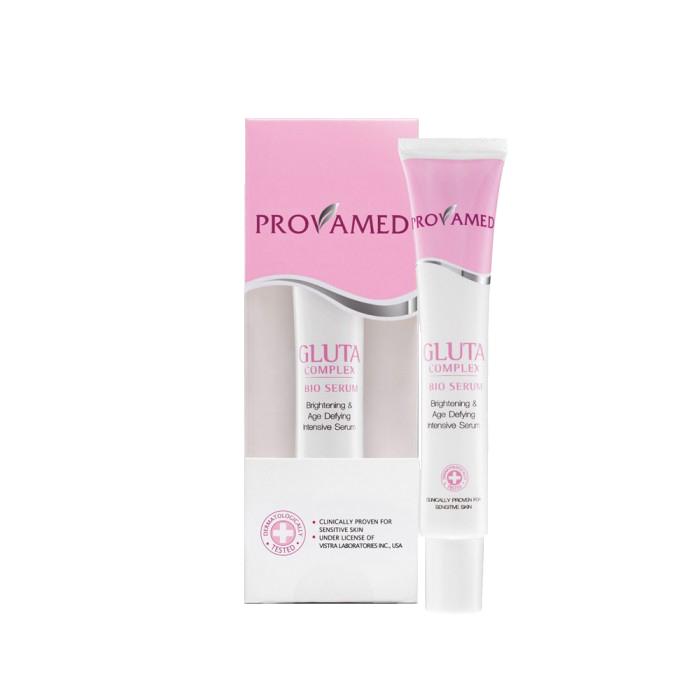 Provamed Био-сыворотка для лица Gluta Complex Bio-Serum глута-комплекс, 30 мл.FS-00897PROVAMEDGlutaComplexBio—Serumобладает антиоксидантными свойствами, уменьшает процесс разрушения коллагена. Глутаминовая кислота поддерживает естественный цвет лица. Био-сыворотка и витамины препятствуют появлению первых признаков старения кожи, улучшают микроциркуляцию крови. Гиалуроновая кислота поддерживает структуру кожи, уменьшает поры и противостоит воздействиям факторов, вызывающих старение.