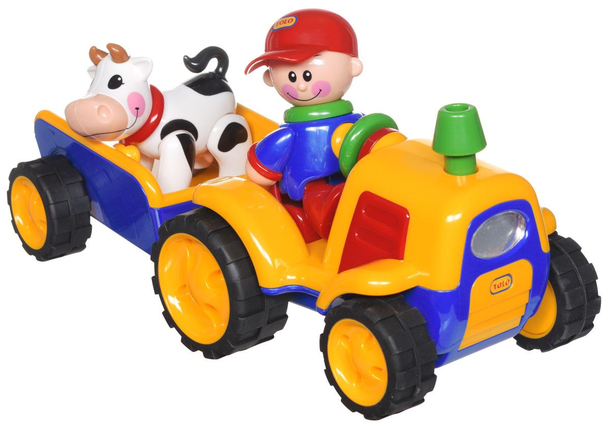 Tolo Развивающая игрушка Трактор с прицепом tolo classic игрушка фотокамера