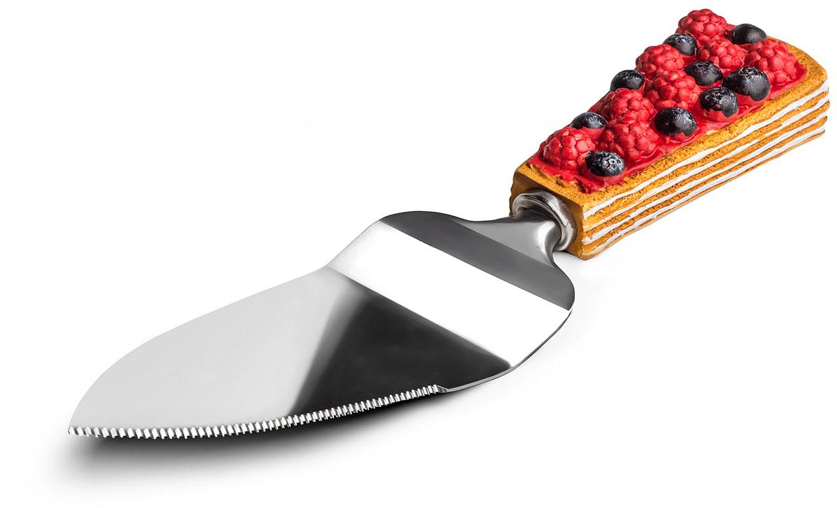 Нож-лопатка для торта Идея Сладенький, длина 23 см. SLD-0105440010100M01Нож-лопатка для торта Идея Сладенький изготовлен из нержавеющей стали и качественного пищевого пластика. С его помощью можно не только разрезать торт или пиццу, но и подать кусочки к столу. Удобная рукоятка не позволить выскользнуть лопатке из вашей руки. Она декорирована оригинальным дизайном в виде кусочка торта. OOE-лопатка для торта Идея займет достойное место среди аксессуаров на вашей кухне. Длина ножа-лопатки: 23 см. Размер рабочей поверхности: 13 см х 5 см.