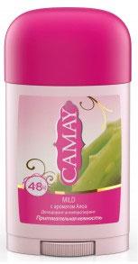 Camay Антиперспирант карандаш Mild 45 грMP59.4DТвердый дезодорант Camay Алоэ - легкий аромат ромашки и алоэ расслабляет и наполняет нежностью.