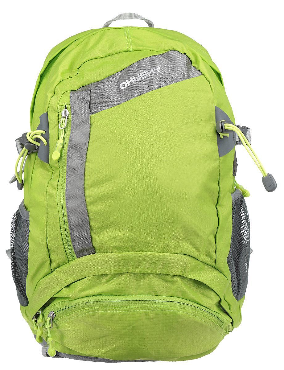Рюкзак городской Husky Stingy 28L, цвет: зеленый, серыйMW-1462-01-SR серебристыйРюкзак Husky Stingy 28L предназначен для прогулок и велоспорта. Он позволит вам взять с собой все необходимое. Рюкзак выполнен из прочного нейлона.Особенности рюкзака:Водонепроницаемая ткань;Система вентиляции спины;Крепеж для треккинговой палки;Карман для питьевой системы с выходом;Накидка от дождя;Боковые карманы-сетки;Светоотражающие элементы.