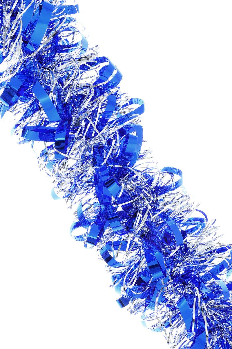 Мишура новогодняя Sima-land, цвет: серебристый, синий, диаметр 8 см, длина 200 см. 702580175784/дед_морозМишура новогодняя Sima-land, выполненная из двухцветной фольги, поможет вам украсить свой дом к предстоящим праздникам. Мишура армирована, то есть имеет проволоку внутри и способна сохранять приданную ей форму.Новогодняя елка с таким украшением станет еще наряднее. Новогодней мишурой можно украсить все, что угодно - елку, квартиру, дачу, офис - как внутри, так и снаружи. Можно сложить новогодние поздравления, буквы и цифры, мишурой можно украсить и дополнить гирлянды, можно выделить дверные колонны, оплести дверные проемы. Коллекция декоративных украшений из серии Зимнее волшебство принесет в ваш дом ни с чем не сравнимое ощущение праздника! Создайте в своем доме атмосферу тепла, веселья и радости, украшая его всей семьей.