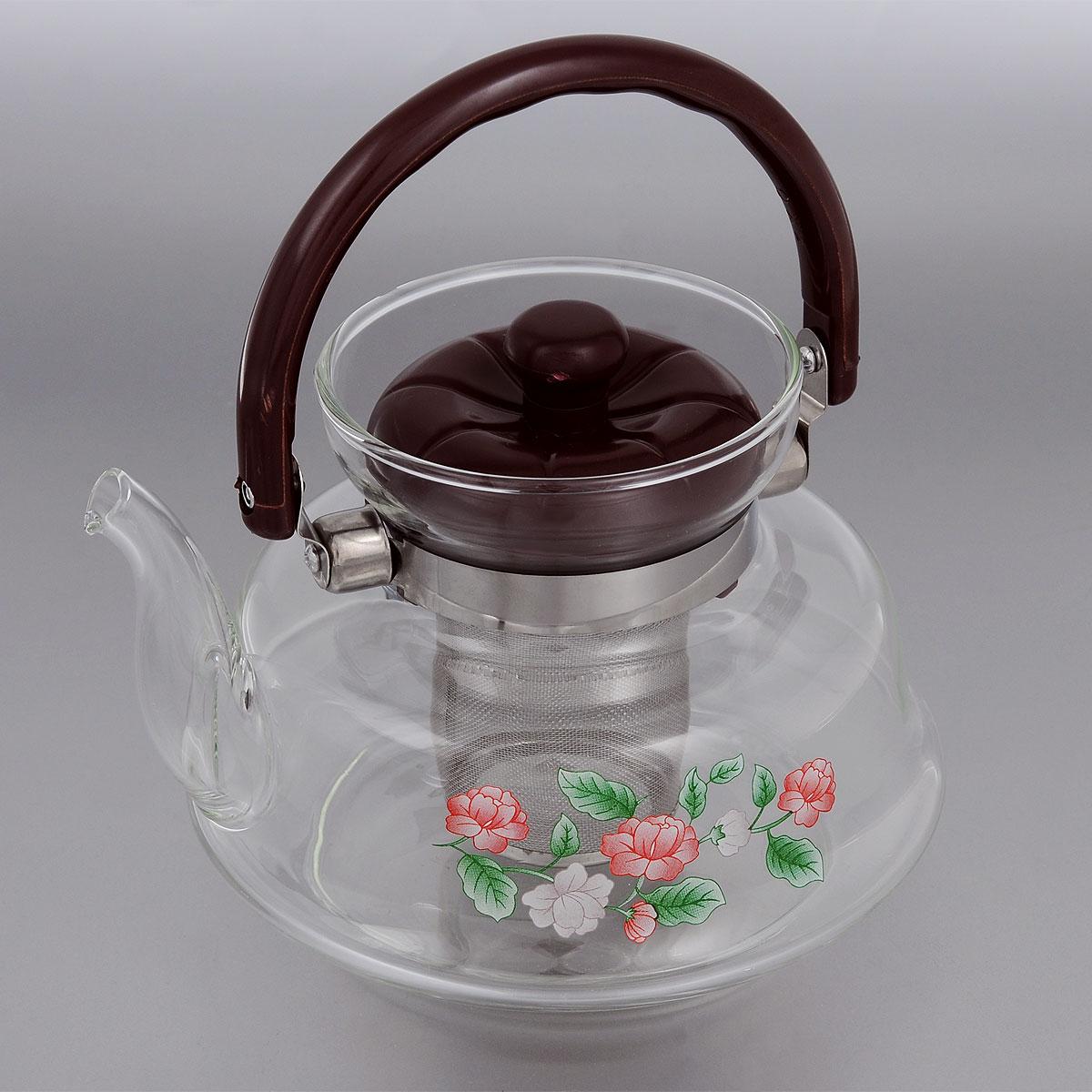 Чайник заварочный Mayer & Boch, с фильтром, 1,4 л. 259024824Заварочный чайник Mayer & Boch, выполненный из термостойкого стекла, предоставит вам все необходимые возможности для успешного заваривания чая. Изделие оснащено пластиковой ручкой, крышкой и сетчатым фильтром из нержавеющей стали, который задерживает чаинки и предотвращает их попадание в чашку. Чай в таком чайнике дольше остается горячим, а полезные и ароматические вещества полностью сохраняются в напитке. Эстетичный и функциональный чайник будет оригинально смотреться в любом интерьере.Диаметр чайника (по верхнему краю): 9,5 см. Высота чайника (с учетом ручки и крышки): 19 см. Высота чайника (без учета ручки и крышки): 13 см. Высота фильтра: 7,5 см.