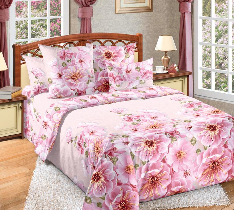 Комплект белья Текс-Дизайн Миндаль 2, 2-спальный, наволочки 70х70, цвет: розовый, зеленыйCA-3505Великолепное постельное белье Текс-Дизайн Миндаль 2 выполнено из высококачественного перкаля (100% хлопок) и украшено изящным цветочным рисунком. Комплект состоит из пододеяльника, простыни и двух наволочек. Перкаль - это тонкая и легкая хлопчатобумажная ткань высокой плотности полотняного переплетения, сотканная из пряжи высоких номеров. При изготовлении перкаля используются длинноволокнистые сорта хлопка, что обеспечивает высокие потребительские свойства материала. Несмотря на свою утонченность, перкаль очень практичен - это одна из самых износостойких тканей для постельного белья.