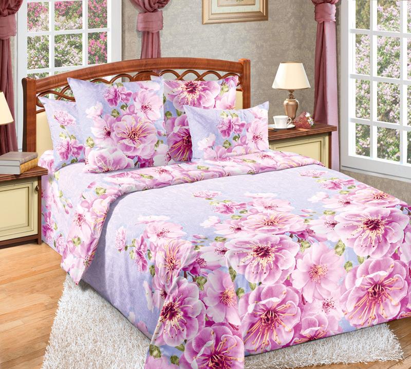 Комплект белья Белиссимо Миндаль 1, евро 1, наволочки 70х70, цвет: розовый, сиреневый391602Великолепное постельное белье Белиссимо Миндаль 1 выполнено из высококачественной бязи (100% хлопок) и украшено изящным цветочным рисунком. Комплект состоит из пододеяльника, простыни и двух наволочек. Бязь - хлопчатобумажная плотная ткань полотняного переплетения. Отличается прочностью и стойкостью к многочисленным стиркам. Бязь считается одной из наиболее подходящих тканей, для производства постельного белья и пользуется в России большим спросом.